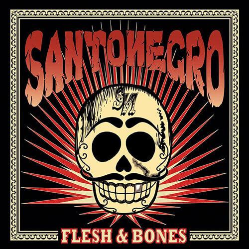 """Portada """"Flesh Bones"""" SANTONEGRO"""
